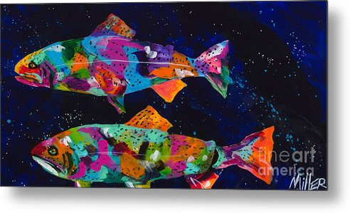 Tracy Miller Metal Print featuring the painting Cutthroats by Tracy Miller