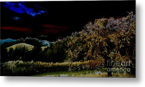 Night Metal Print featuring the photograph Darkness At The Edge Of Dawn by JoAnn SkyWatcher