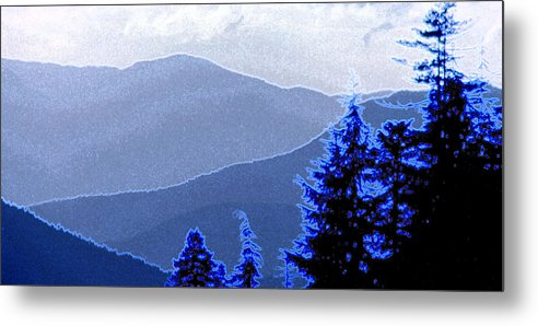Mountains Metal Print featuring the photograph Ridge Layers 4 Ae by Lyle Crump