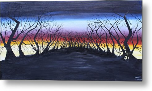 Trees Metal Print featuring the painting The Hill by Tammy Dunn