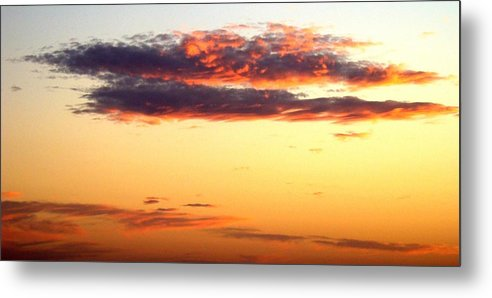 Sunset Metal Print featuring the photograph Winter Clouds One by Ana Villaronga
