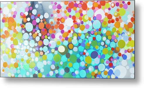 Abstract Metal Print featuring the painting Sweet Thing by Claire Desjardins