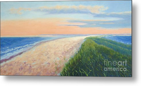 Landscape Metal Print featuring the painting Wanderlust by Laura Roberts