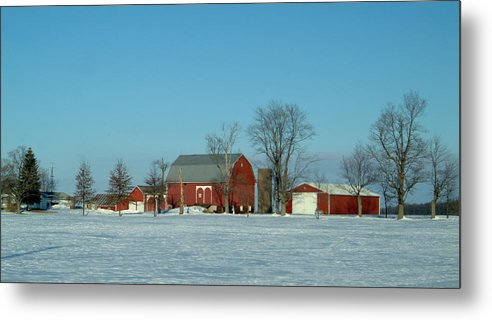 Barn Metal Print featuring the photograph 020409-3 by Mike Davis