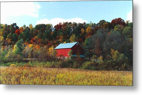 Barns Metal Print featuring the photograph 080806-7 by Mike Davis