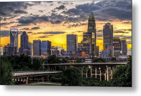 Charlotte Metal Print featuring the photograph Charlotte Dusk by Chris Austin