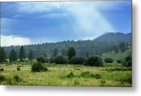 Arizona Metal Print featuring the photograph Sunray With Rain by CEB Imagery