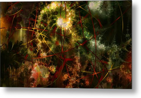 Abstract Metal Print featuring the digital art Bridges To Inner Sanctums by Stephen Lucas