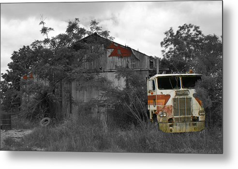 Truck Metal Print featuring the photograph When Nature And Machines Collide by Greg Sharpe