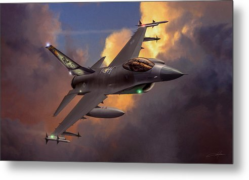 F-16 Metal Print featuring the digital art Beauty Pass by Dale Jackson