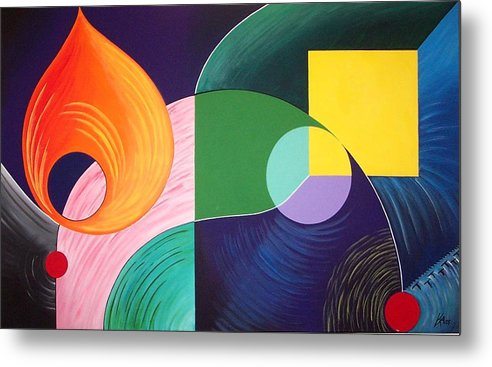 Abstract Metal Print featuring the painting The Kite by Karen Ann Wakeling