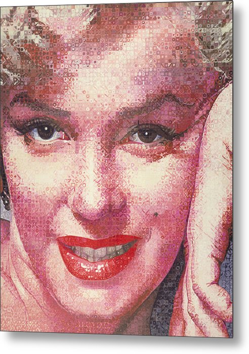 Marilyn Monroe Metal Print featuring the painting Marilyn by Randy Ford