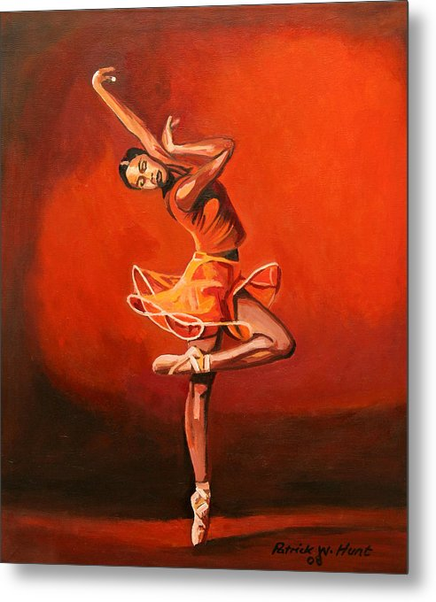 Ballet Dancer Metal Print featuring the painting Ballet Lady by Patrick Hunt