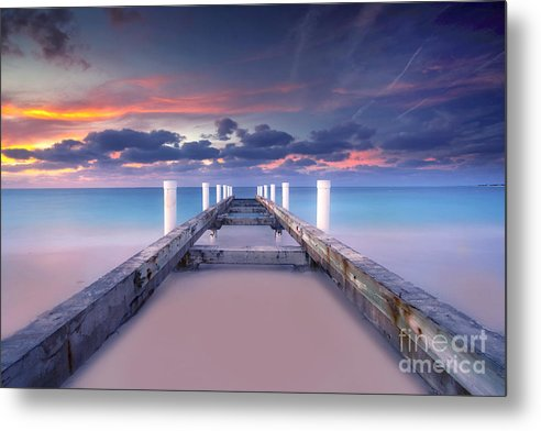 Beach Metal Print featuring the photograph Turquoise Paradise by Marco Crupi