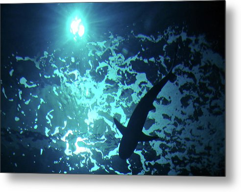 Water Metal Print featuring the photograph Blue by M Urbanski
