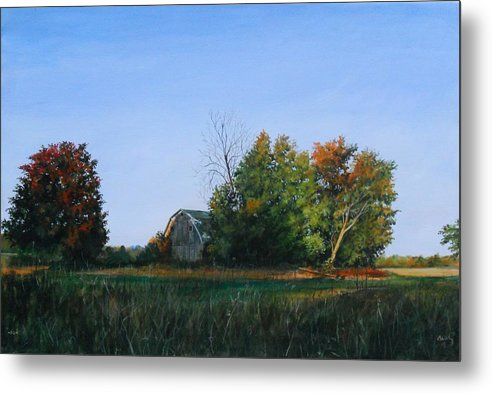 Landscape Metal Print featuring the painting Changes by William Brody