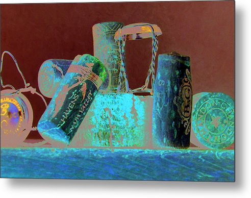 Wine Metal Print featuring the painting Domain Chandon by Randy Ford