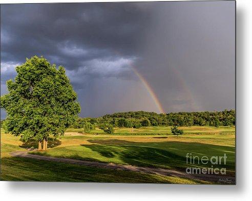 Double Rainbow Through Rain by Jennifer White