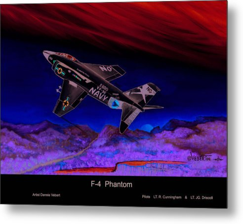 War Plane Metal Print featuring the painting F-4 Phantom by Dennis Vebert