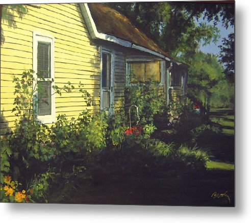 Country Metal Print featuring the painting Aunt Betty by William Brody