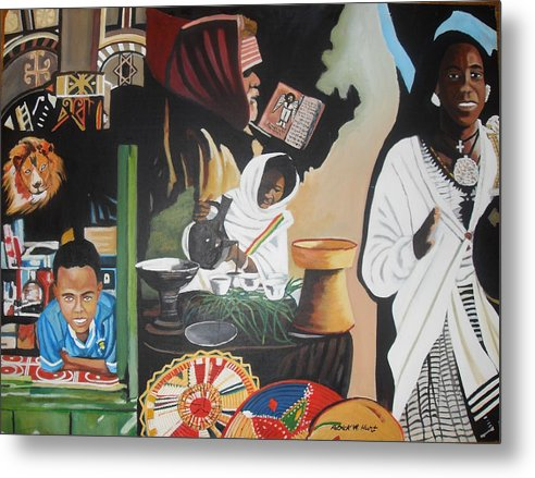 Ethiopia Metal Print featuring the painting Ethiopian Traditions by Patrick Hunt
