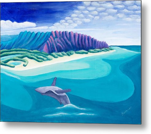 Landscape Metal Print featuring the painting Hawaiian Playground by Lynn Soehner