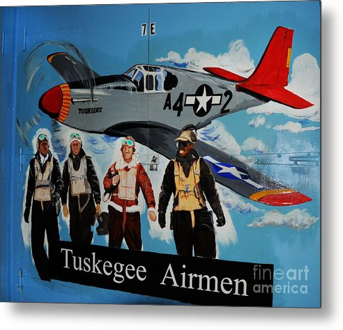 Redtails Metal Print featuring the photograph Tuskegee Airmen by Leon Hollins III