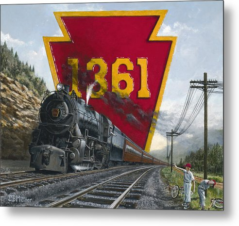 Trains Metal Print featuring the painting Memories Relived by David Mittner