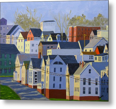 Maine Metal Print featuring the painting Munjoy Afternoon by Laurie Breton