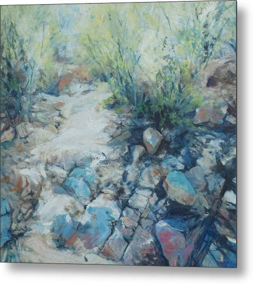 Desert Metal Print featuring the painting Trail Incline by Marilyn Muller