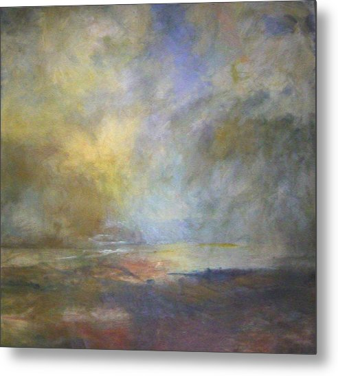 Landscape Metal Print featuring the painting Untitled 1 by Marilyn Muller