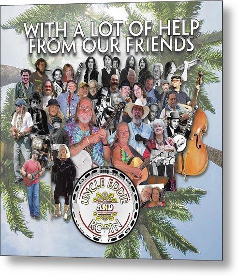 Uncle Eddie And Robin Cd Cover Metal Print featuring the digital art Uncle Eddie and Robin CD by Scott Waters