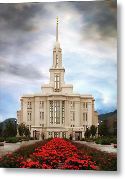 Payson Metal Print featuring the painting Payson Temple #3 by Brent Borup