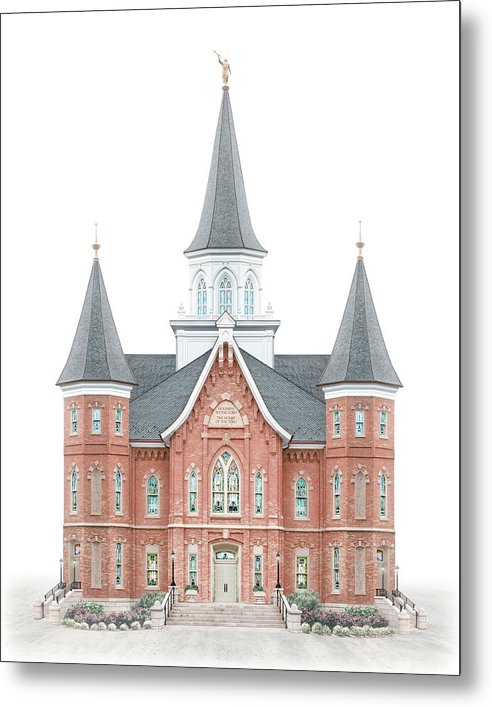 Provo City Center Metal Print featuring the digital art Provo City Center Temple - Celestial Series by Brent Borup