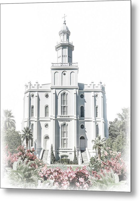 St George Metal Print featuring the digital art St George Temple - Celestial Series by Brent Borup