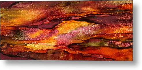 Abstract Metal Print featuring the painting Alluring Rhythms - B - by Sandy Sandy