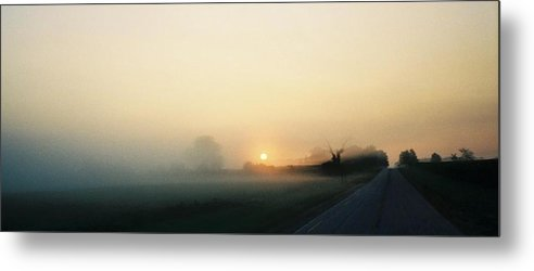 Landscape Metal Print featuring the photograph Indiana Serene Morning by Gene Linder