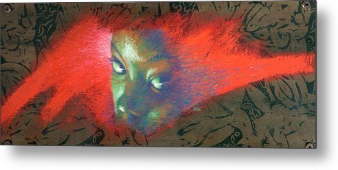 Portraits Metal Print featuring the painting Junglevision by Ken Meyer jr