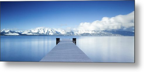 Lake Metal Print featuring the photograph Lake Tahoe Panorama by Matthew Train