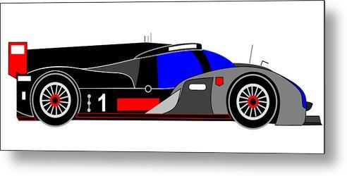 Audi Metal Print featuring the digital art Le Mans 2011 Audi R18 Number 1 by Asbjorn Lonvig