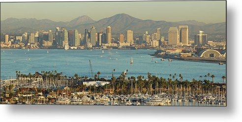 Downtown District Metal Print featuring the photograph San Diego Skyline by S. Greg Panosian
