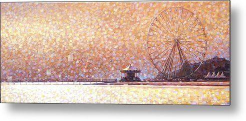 Metal Print featuring the painting Carousel of Arcachon by Rob Buntin