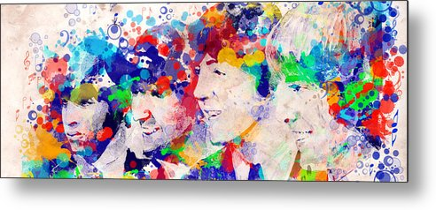 Beatles Metal Print featuring the painting The Beatles Tb by Bekim M