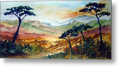 Africa Metal Print featuring the painting Africa by Jo Smoley