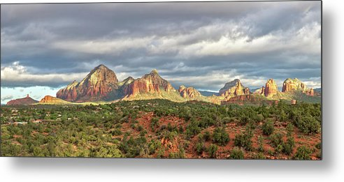 Scenics Metal Print featuring the photograph Sedona, Arizona And Red Rocks Panorama by Picturelake