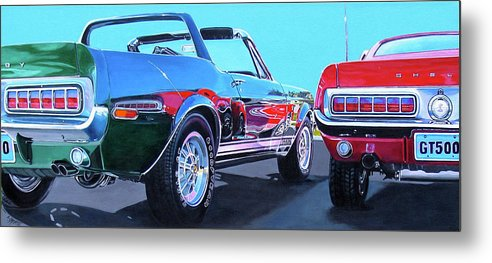 Car Metal Print featuring the painting Muscle Control by Lynn Masters