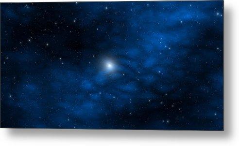 Space Metal Print featuring the digital art Blue Interstellar Gas by Robert aka Bobby Ray Howle