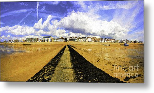 Southend On Sea Metal Print featuring the photograph Seafront at Southend on Sea by Sheila Smart Fine Art Photography