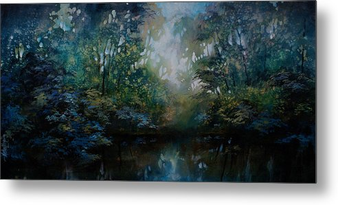 Original Landscape Painting Metal Print featuring the painting Landscape 2 by Michael Lang