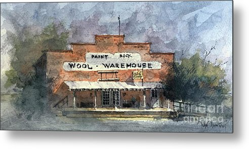 Wool Metal Print featuring the painting Paintrock Wool Warehouse by Tim Oliver